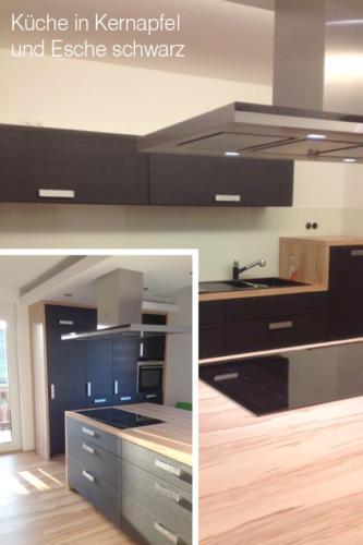 Küche-in-Kernapfel-und-Esche-schwarz